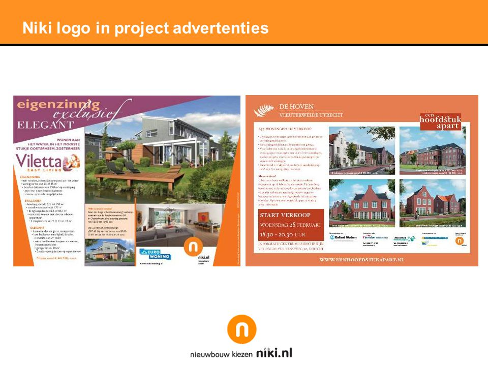 Stichting LNP Niki logo in project advertenties