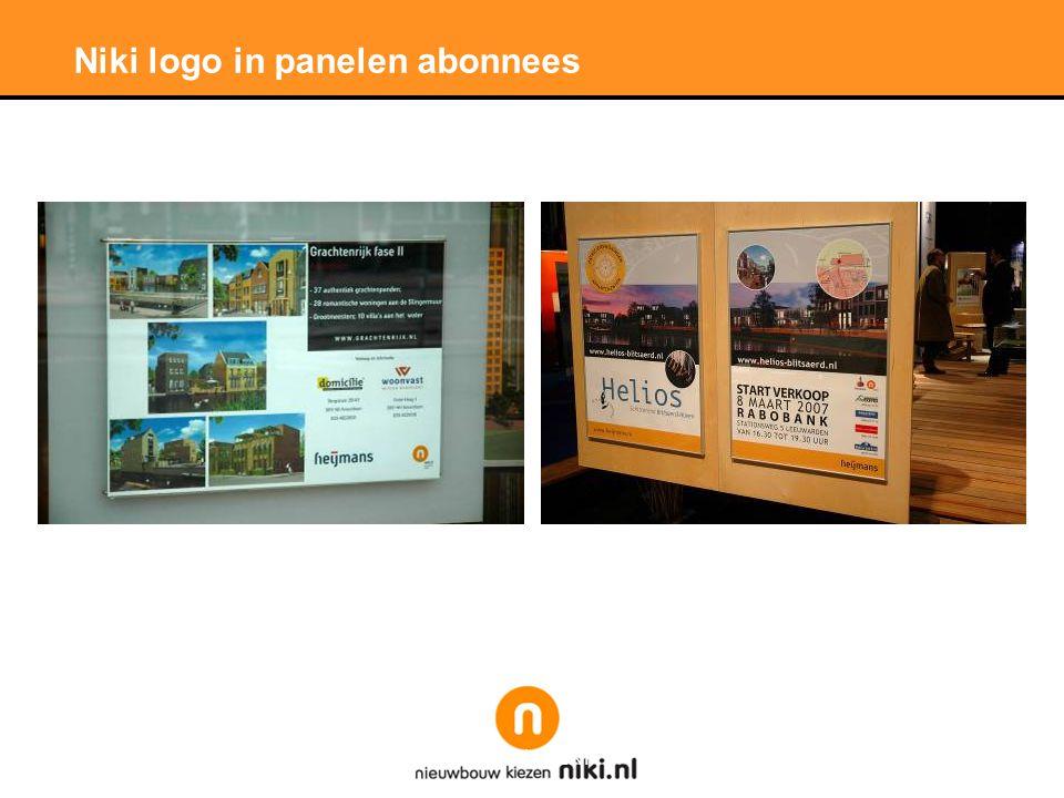 Stichting LNP Niki logo in panelen abonnees