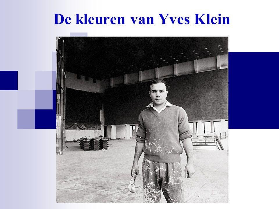 De kleuren van Yves Klein
