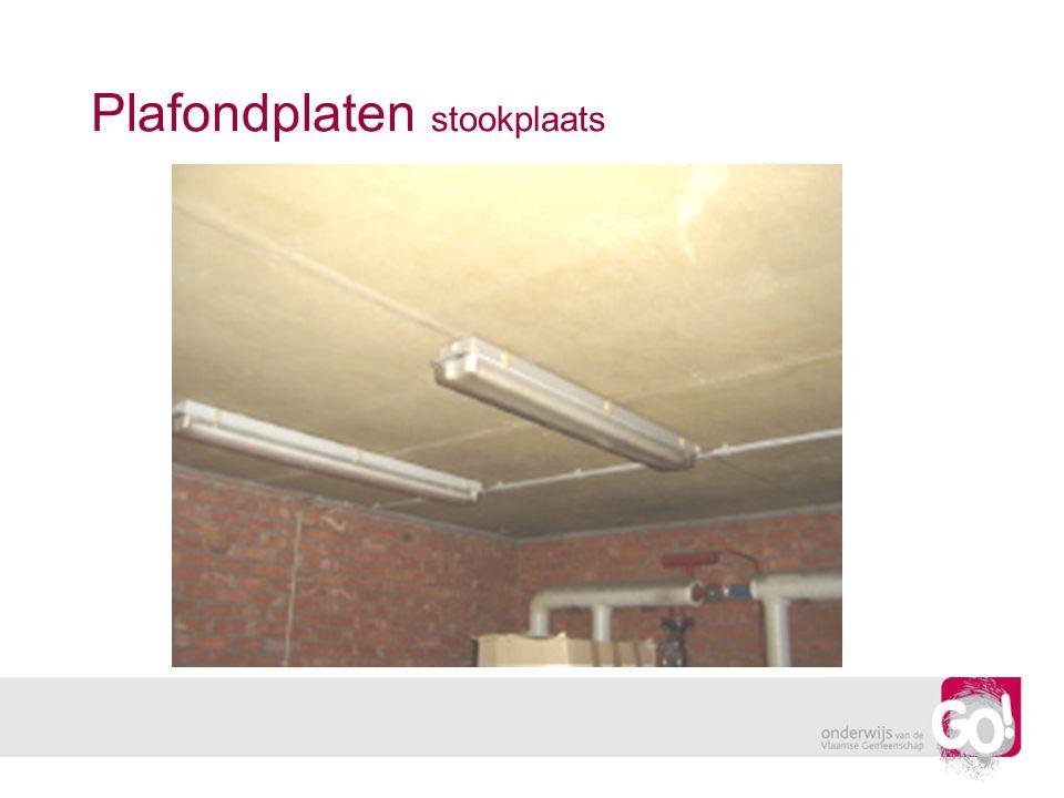 Plafondplaten stookplaats