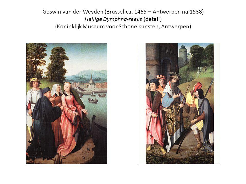 Goswin van der Weyden (Brussel ca. 1465 – Antwerpen na 1538) Heilige Dymphna-reeks (detail) (Koninklijk Museum voor Schone kunsten, Antwerpen)