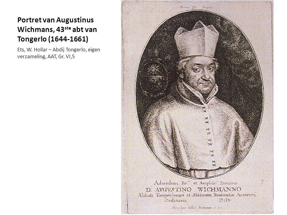 Portret van Augustinus Wichmans, 43 ste abt van Tongerlo (1644-1661) Ets, W. Hollar – Abdij Tongerlo, eigen verzameling, AAT, Gr. VI,5