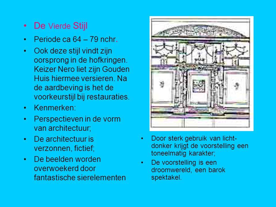 De Vierde Stijl Periode ca 64 – 79 nchr.Ook deze stijl vindt zijn oorsprong in de hofkringen.