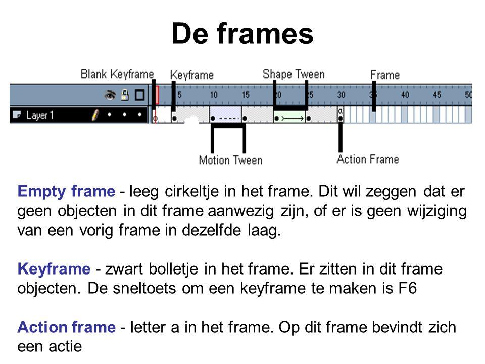 De frames Empty frame - leeg cirkeltje in het frame. Dit wil zeggen dat er geen objecten in dit frame aanwezig zijn, of er is geen wijziging van een v