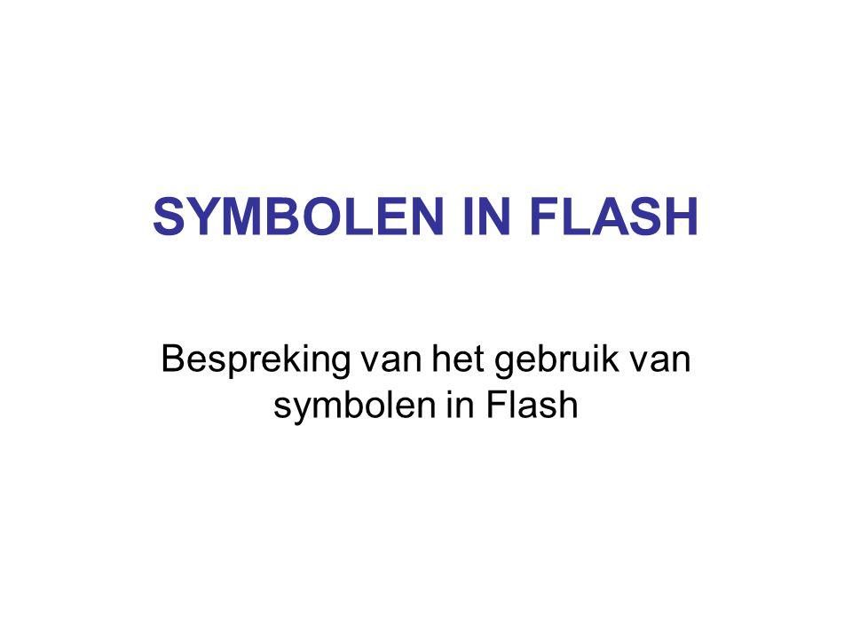 SYMBOLEN IN FLASH Bespreking van het gebruik van symbolen in Flash