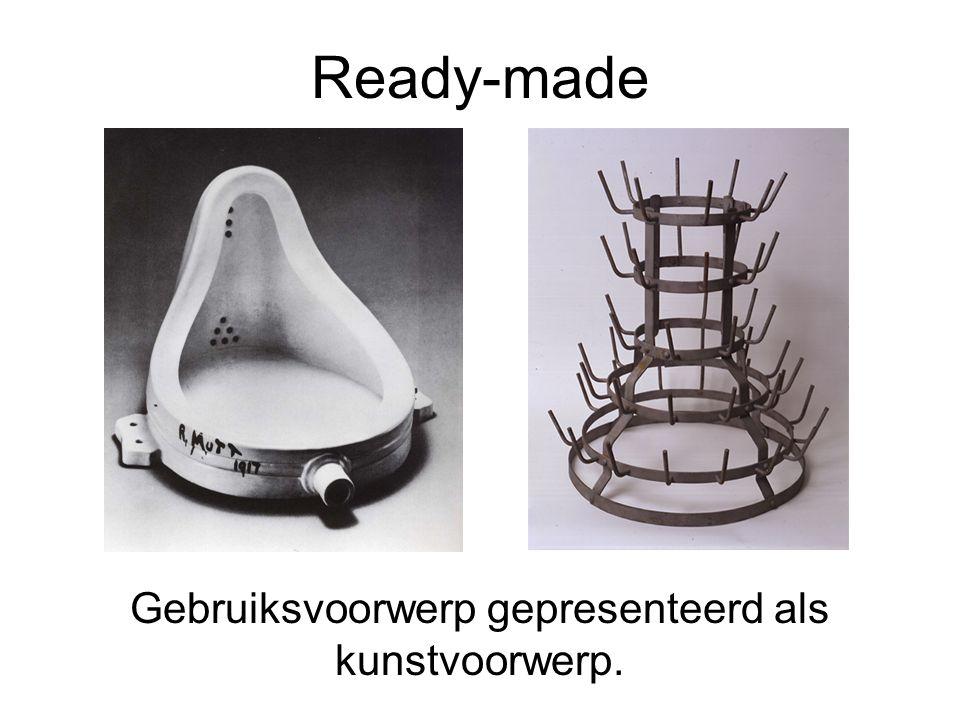 Ready-made Gebruiksvoorwerp gepresenteerd als kunstvoorwerp.