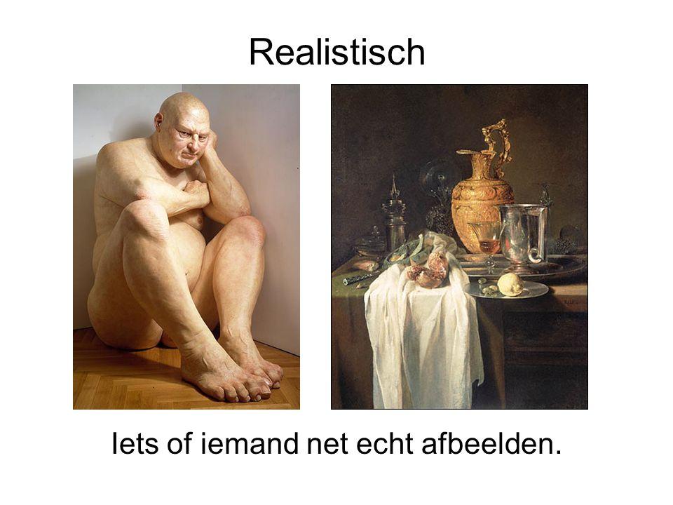 Realistisch Iets of iemand net echt afbeelden.