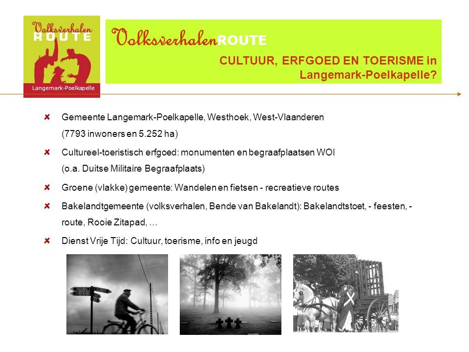 Gemeente Langemark-Poelkapelle, Westhoek, West-Vlaanderen (7793 inwoners en 5.252 ha) Cultureel-toeristisch erfgoed: monumenten en begraafplaatsen WOI (o.a.
