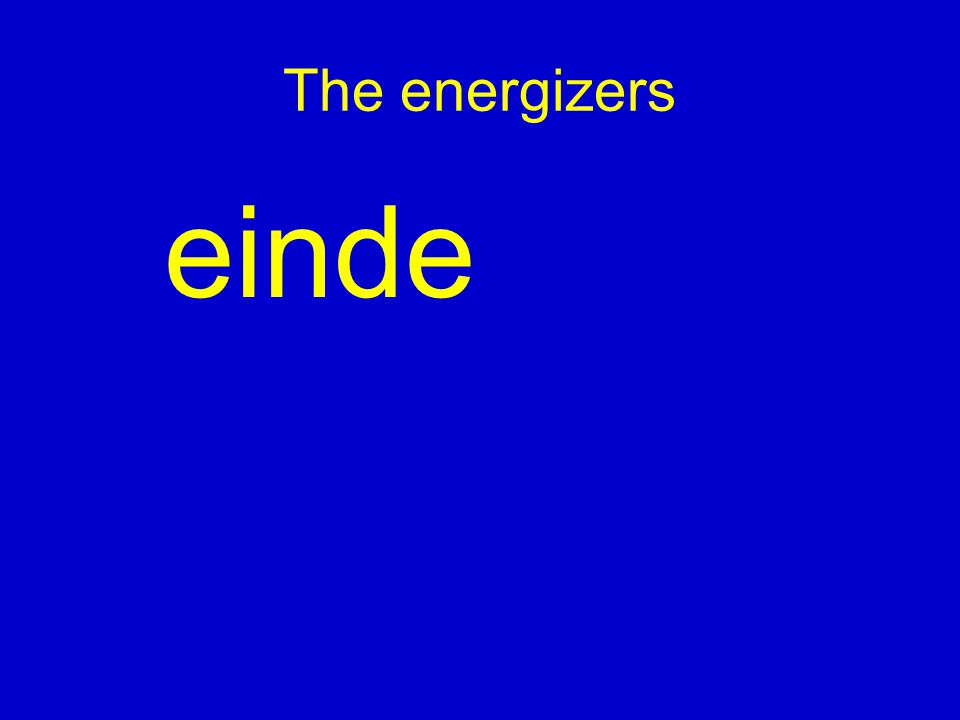 The energizers einde