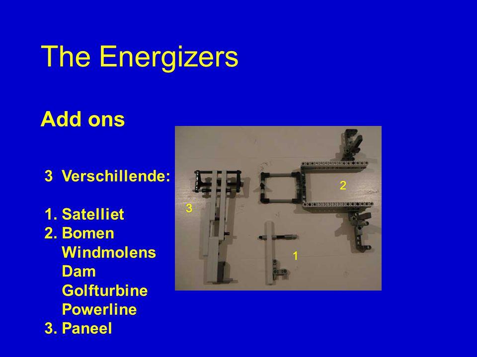 The Energizers Add ons 3 Verschillende: 1. Satelliet 2.