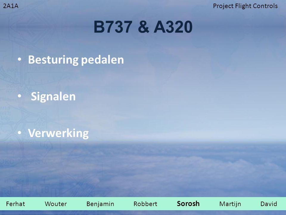 2A1AProject Flight Controls B737 & A320 Besturing pedalen Signalen Verwerking Ferhat Wouter Benjamin Robbert Sorosh Martijn David.