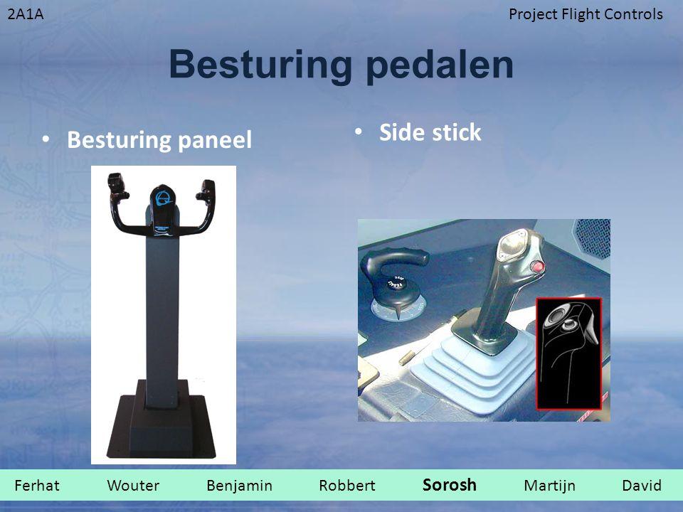 2A1AProject Flight Controls Besturing pedalen Besturing paneel Side stick Ferhat Wouter Benjamin Robbert Sorosh Martijn David.