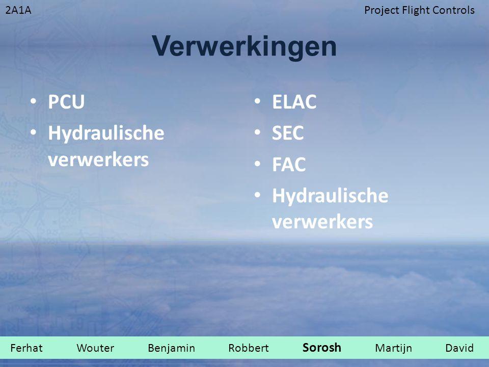 2A1AProject Flight Controls Verwerkingen PCU Hydraulische verwerkers ELAC SEC FAC Hydraulische verwerkers Ferhat Wouter Benjamin Robbert Sorosh Martij