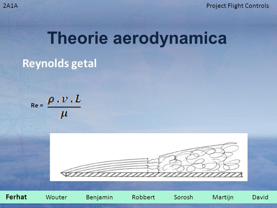 2A1AProject Flight Controls Theorie aerodynamica Re = Reynolds getal Ferhat Wouter Benjamin Robbert Sorosh Martijn David.