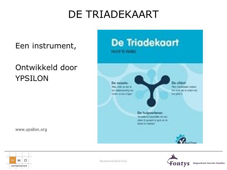 Naastenbeleid GGz DE TRIADEKAART Een instrument, Ontwikkeld door YPSILON www.ypsilon.org