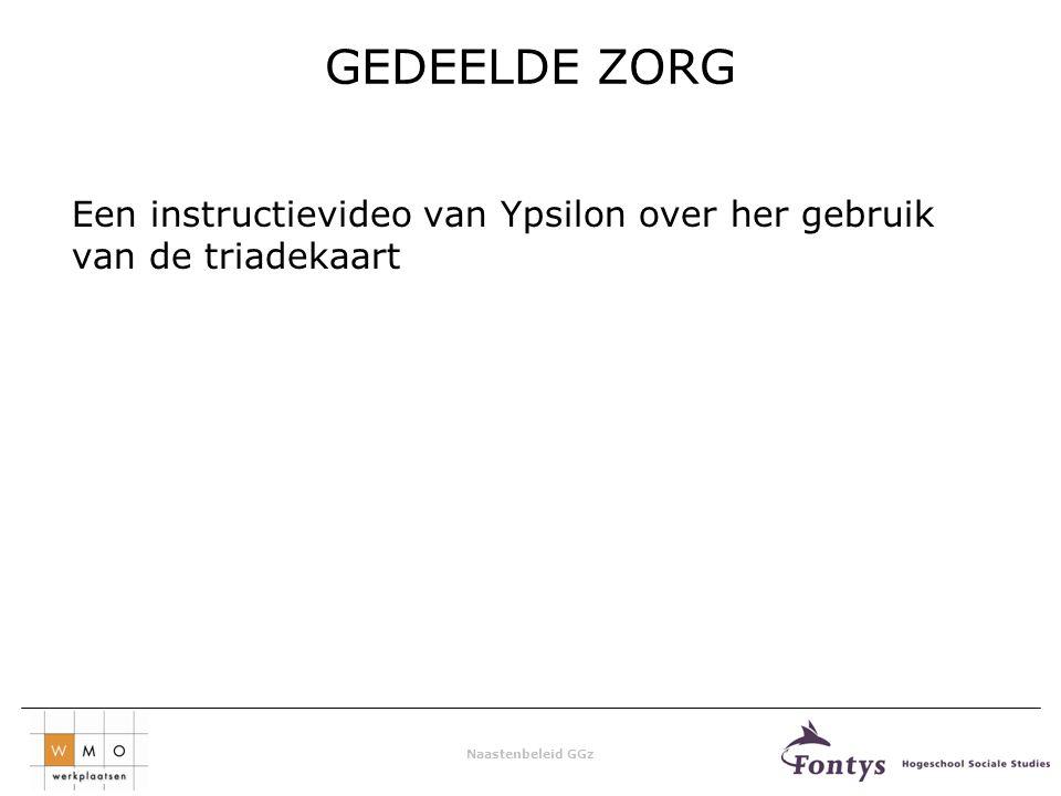 Naastenbeleid GGz GEDEELDE ZORG Een instructievideo van Ypsilon over her gebruik van de triadekaart