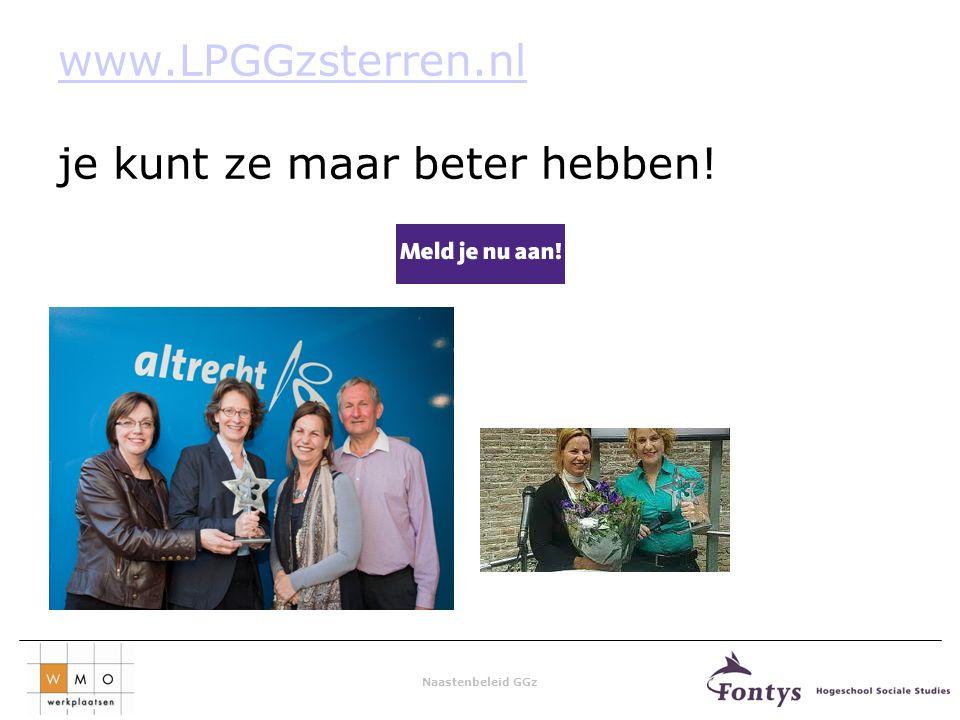 Naastenbeleid GGz www.LPGGzsterren.nl www.LPGGzsterren.nl je kunt ze maar beter hebben!