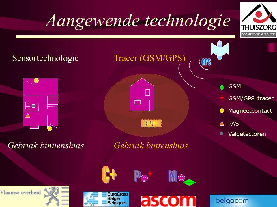 53 Aangewende technologie Magneetcontact PAS GSM/GPS tracer GSM Valdetectoren SensortechnologieTracer (GSM/GPS) Gebruik binnenshuisGebruik buitenshuis