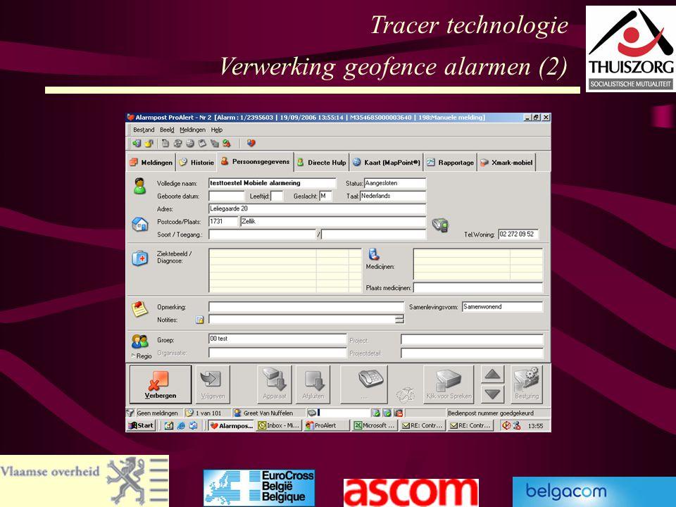59 Tracer technologie Verwerking geofence alarmen (2)