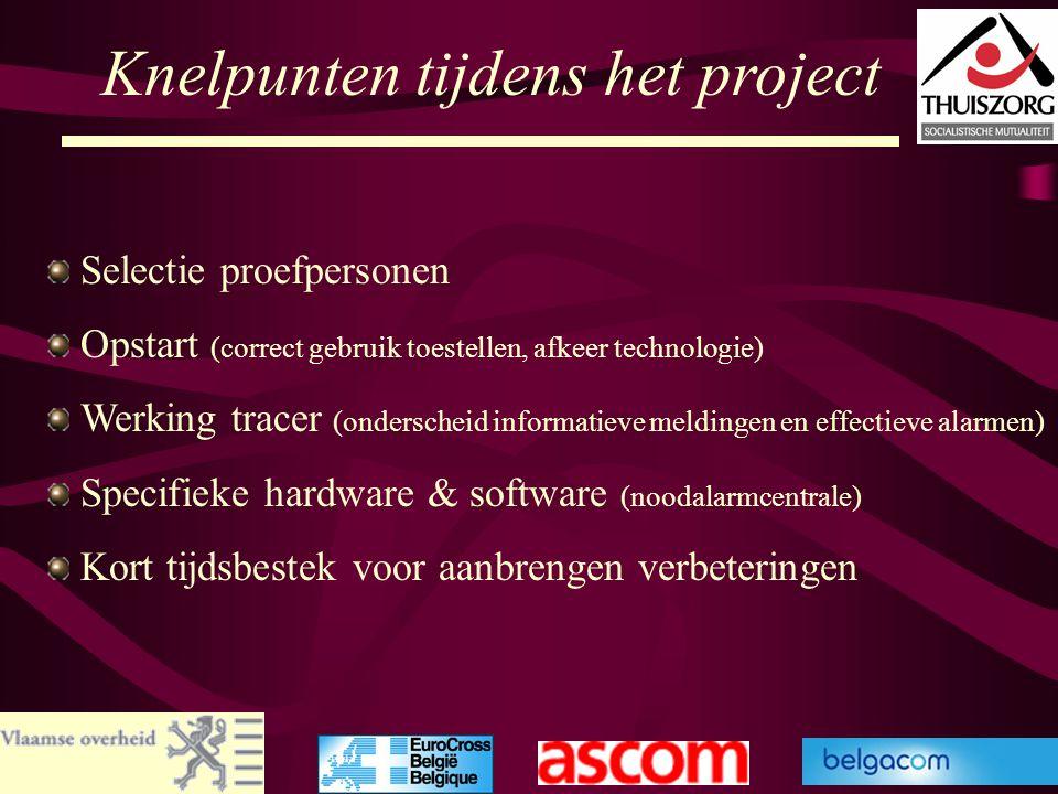 64 Knelpunten tijdens het project Selectie proefpersonen Opstart (correct gebruik toestellen, afkeer technologie) Werking tracer (onderscheid informat