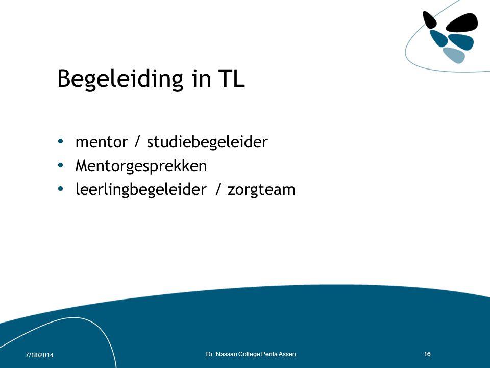7/18/2014 Dr. Nassau College Penta Assen15 PTA Nederlands TL3 ToetsOmschrijvingEindtermenSoort toets Tijdsduur Toetsing in week ScoreWegingresultaat A