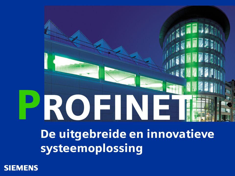 De uitgebreide en innovatieve systeemoplossing ROFINET P