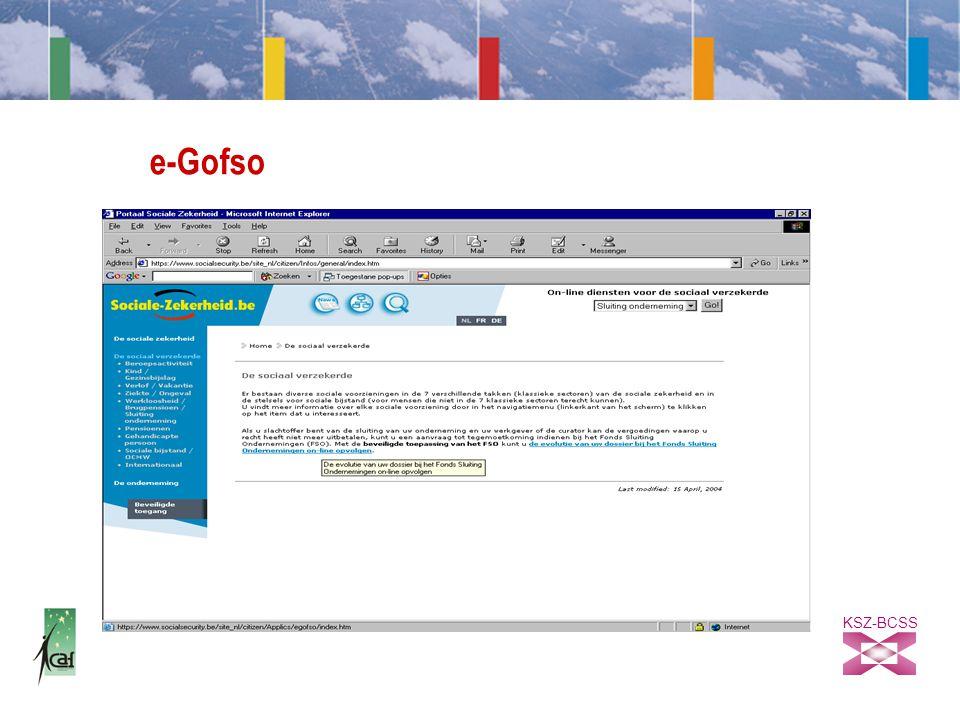 KSZ-BCSS e-Gofso