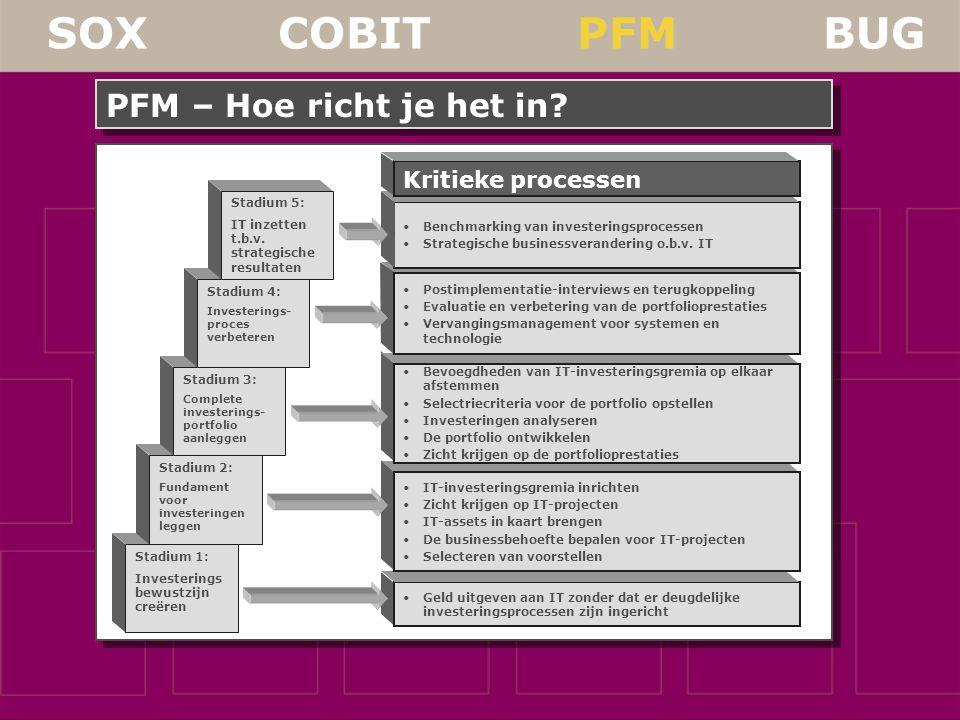SOX COBIT PFM BUG PFM – Hoe richt je het in.