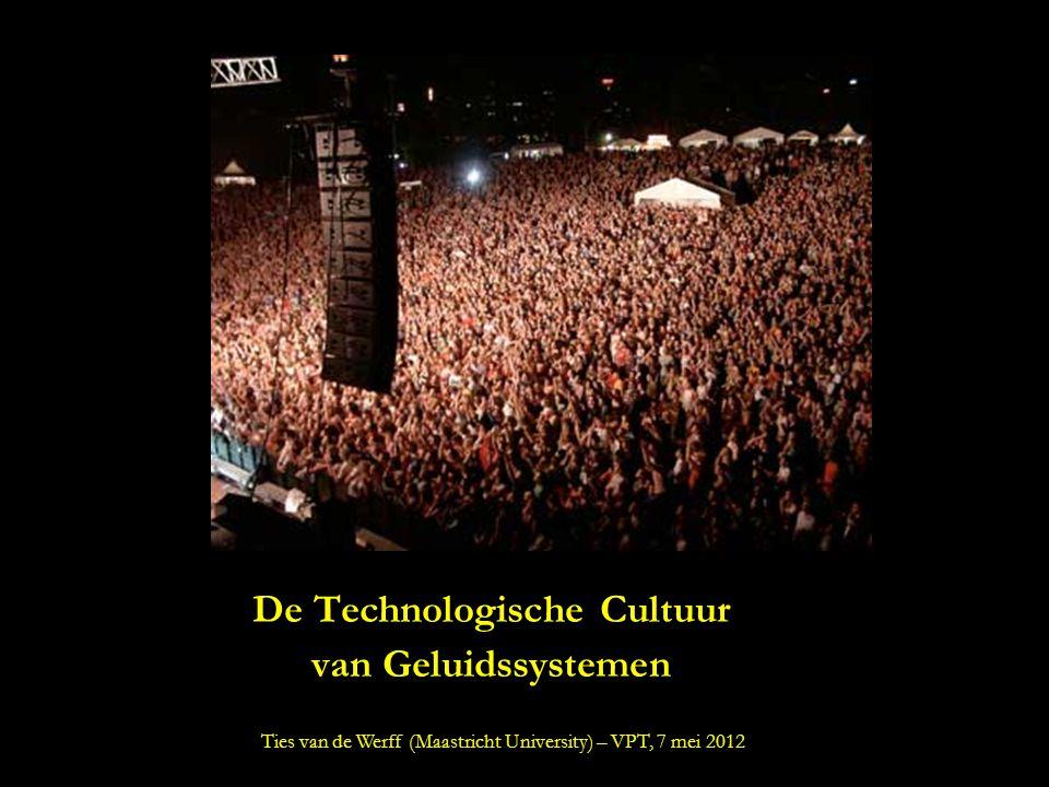 De Technologische Cultuur van Geluidssystemen Ties van de Werff (Maastricht University) – VPT, 7 mei 2012
