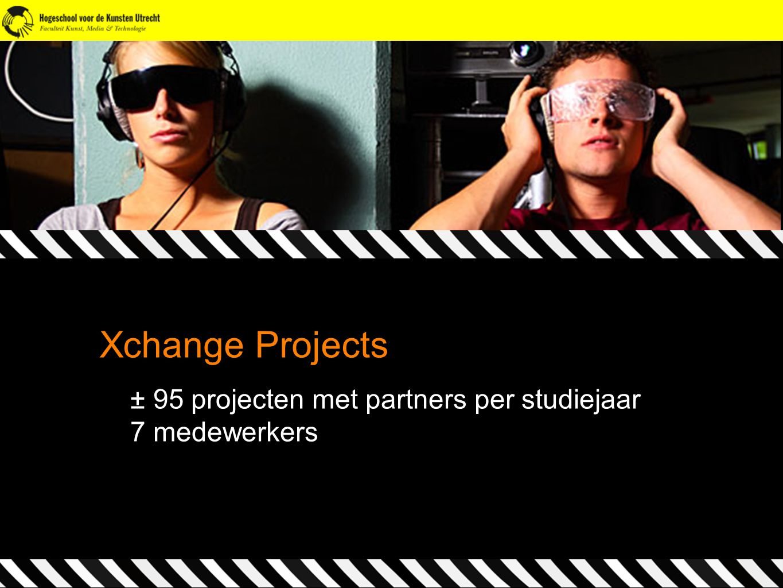 Xchange Projects ± 95 projecten met partners per studiejaar 7 medewerkers