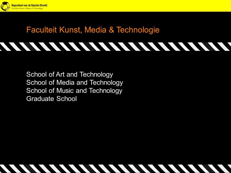 Faculteit Kunst, Media & Technologie School of Art and Technology School of Media and Technology School of Music and Technology Graduate School Facult