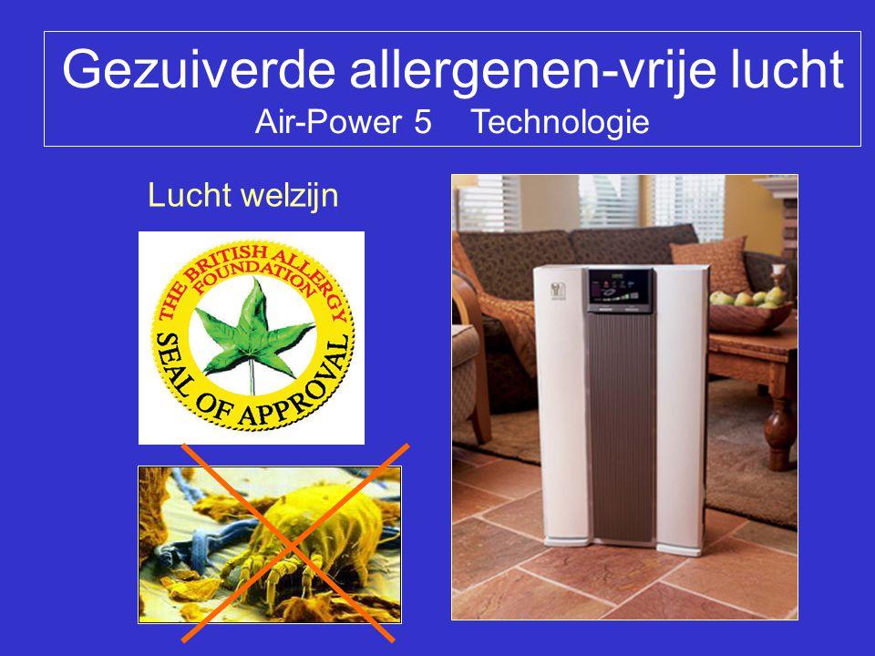 Gezuiverde allergenen-vrije lucht Air-Power 5 Technologie Lucht welzijn