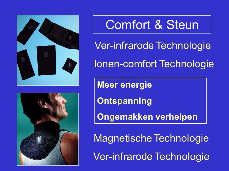 Comfort & Steun Magnetische Technologie Ver-infrarode Technologie Ionen-comfort Technologie Meer energie Ontspanning Ongemakken verhelpen