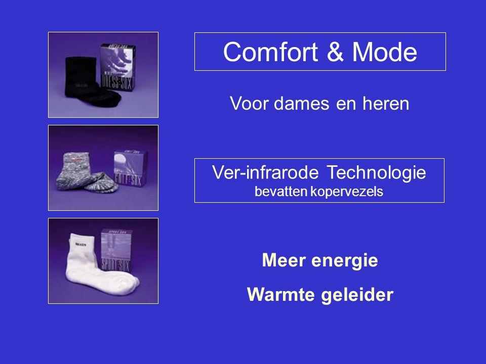 Comfort & Mode Ver-infrarode Technologie bevatten kopervezels Voor dames en heren Meer energie Warmte geleider