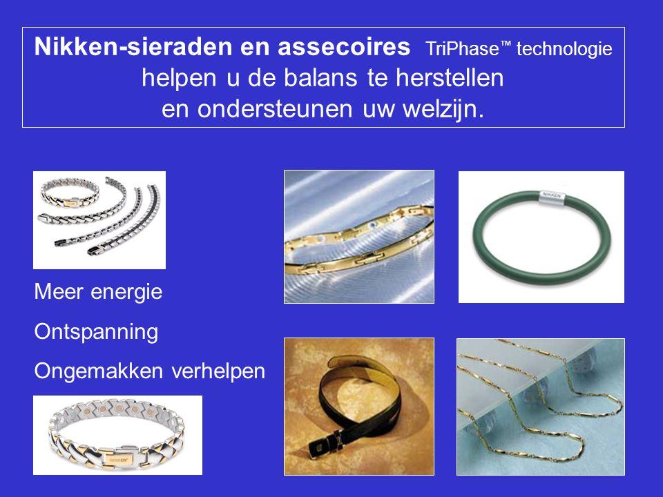 Nikken-sieraden en assecoires TriPhase ™ technologie helpen u de balans te herstellen en ondersteunen uw welzijn.