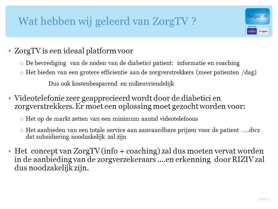 Wat hebben wij geleerd van ZorgTV .