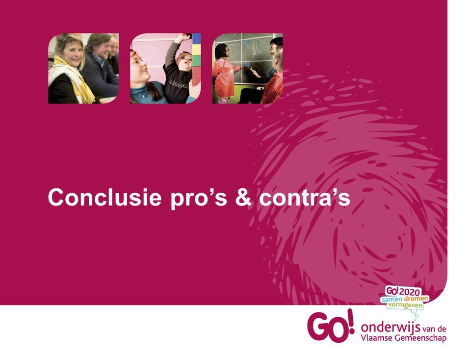 Conclusie pro's & contra's
