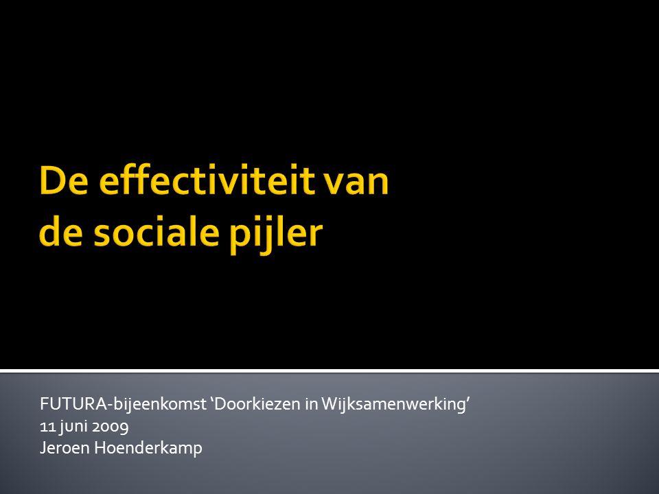 FUTURA-bijeenkomst 'Doorkiezen in Wijksamenwerking' 11 juni 2009 Jeroen Hoenderkamp