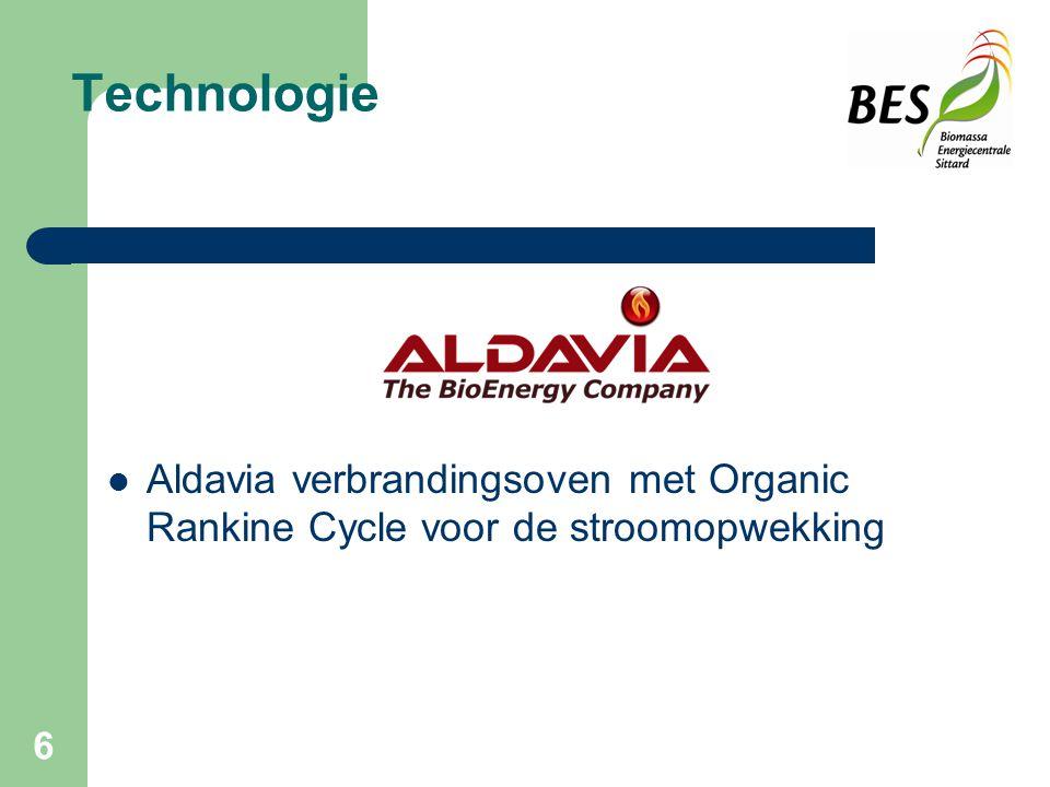 6 Technologie Aldavia verbrandingsoven met Organic Rankine Cycle voor de stroomopwekking