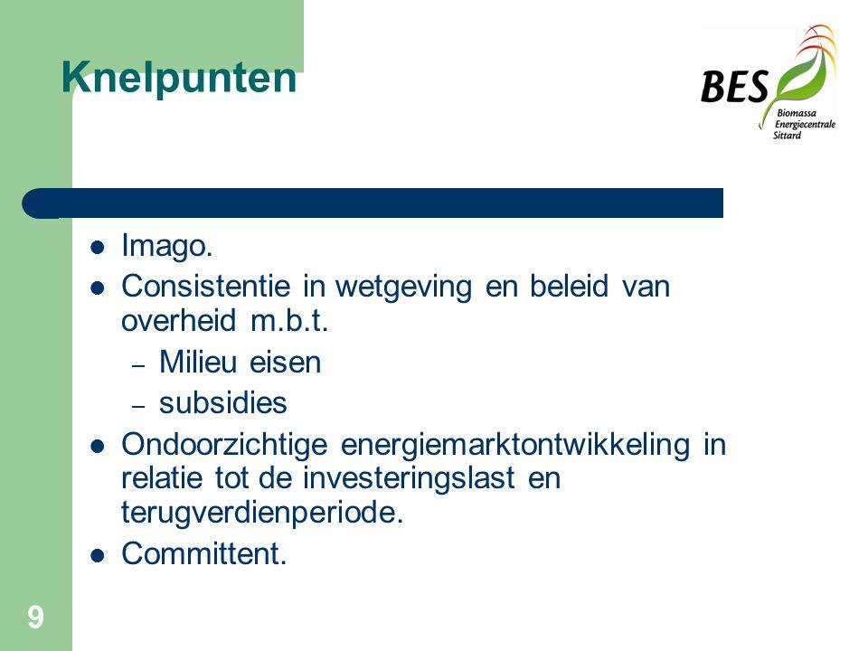 9 Knelpunten Imago.Consistentie in wetgeving en beleid van overheid m.b.t.