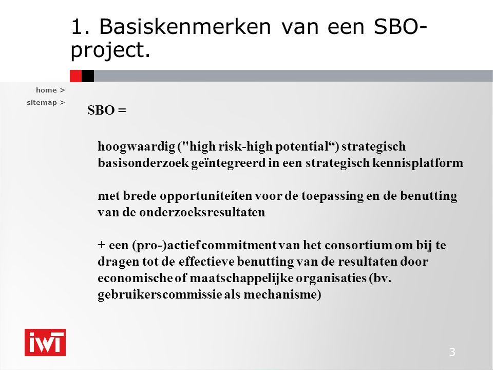home > sitemap > 3 1. Basiskenmerken van een SBO- project. SBO = hoogwaardig (