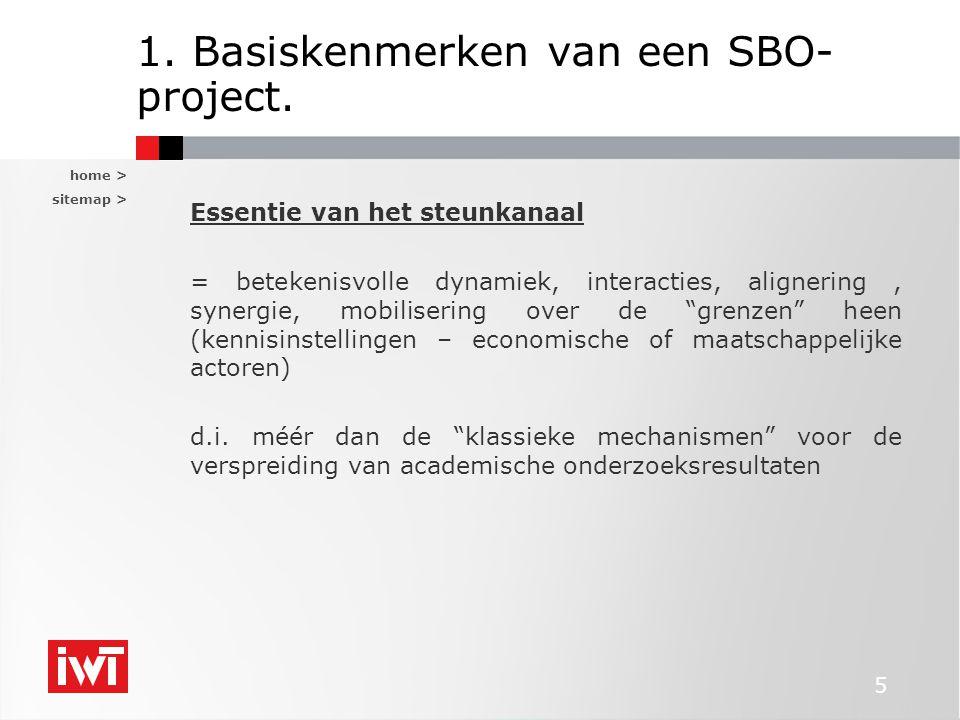 home > sitemap > 6 1.Basiskenmerken van een SBO- project.