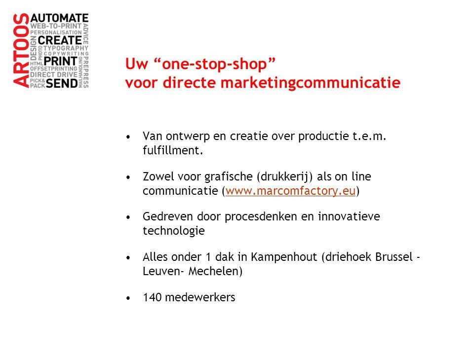 """Uw """"one-stop-shop"""" voor directe marketingcommunicatie Van ontwerp en creatie over productie t.e.m. fulfillment. Zowel voor grafische (drukkerij) als o"""