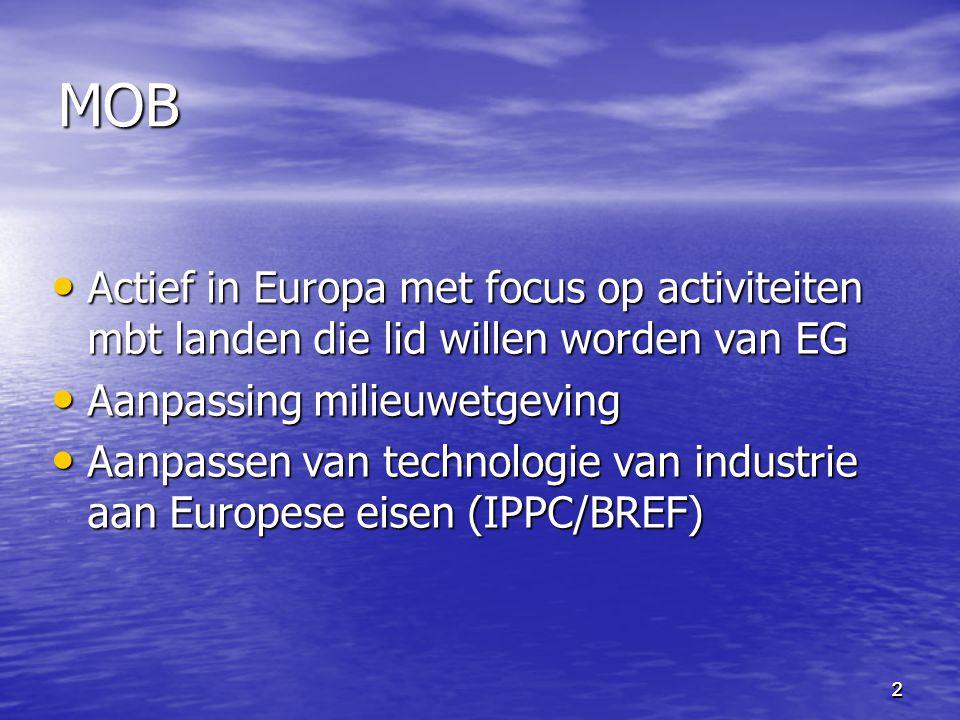 22 MOB Actief in Europa met focus op activiteiten mbt landen die lid willen worden van EG Actief in Europa met focus op activiteiten mbt landen die li