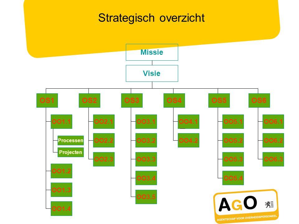 Strategisch overzicht Missie Visie OS1OS2OS3OS4OS5OS6 OO1.1 OO1.2 OO1.3 OO1.4 OO2.1 OO2.2 OO2.3 OO3.5 OO3.1 OO3.2 OO3.3 OO3.4 OO4.1 OO4.2 OO5.1 OO5.2