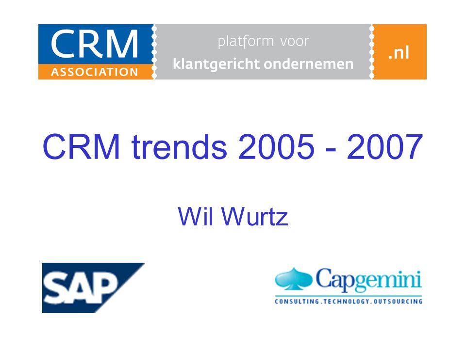 CRM trends 2005 - 2007 Wil Wurtz