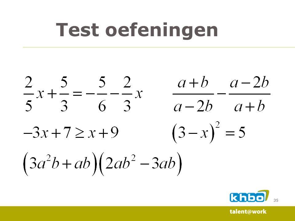 Test oefeningen 35