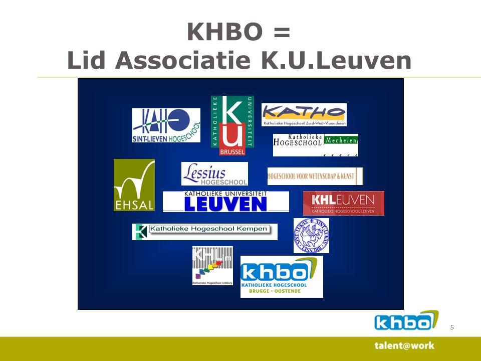 5 KHBO = Lid Associatie K.U.Leuven