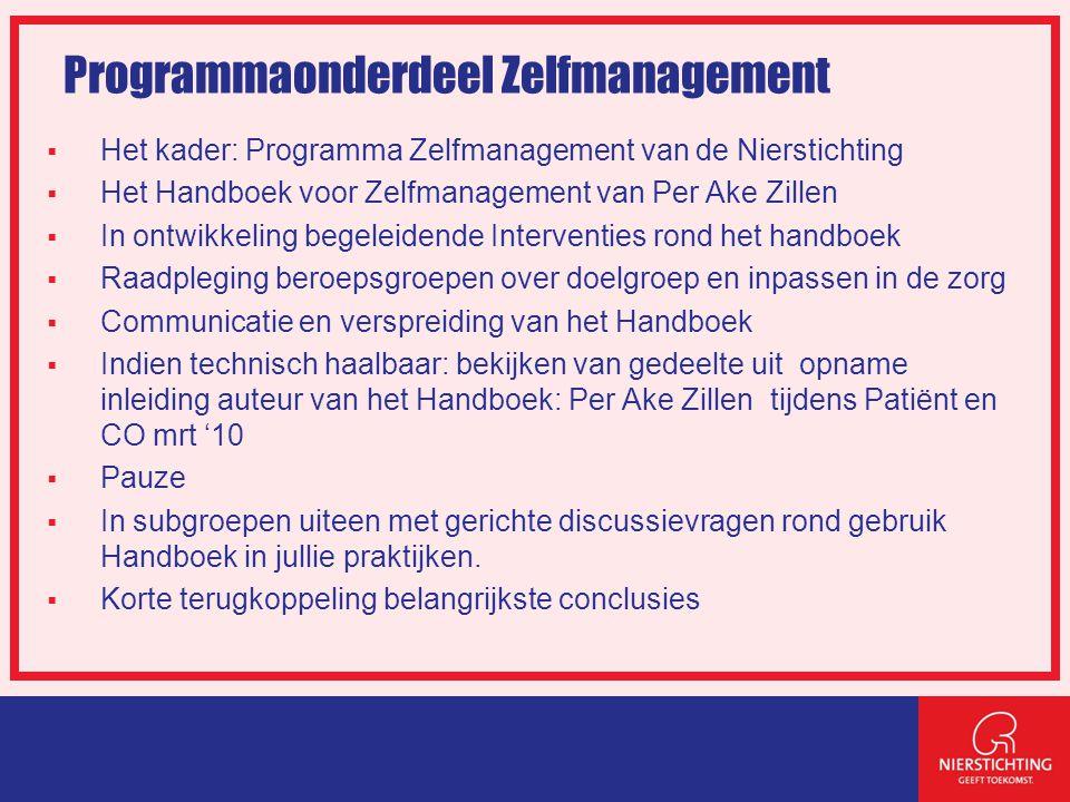 Doelstellingen programma Zelfmanagement  Wat is het.