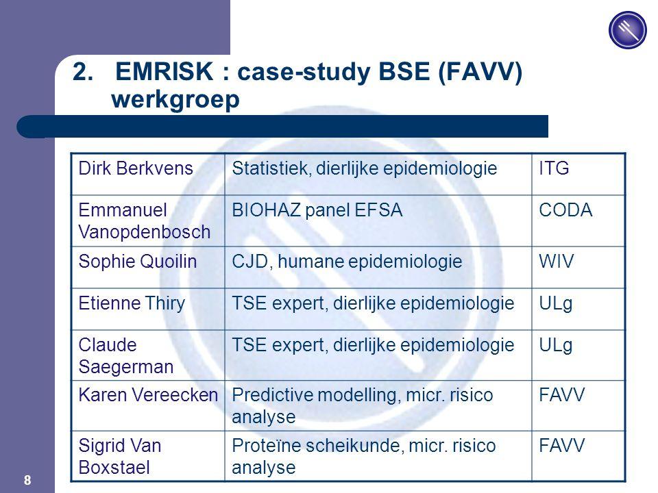JPM 8 Dirk BerkvensStatistiek, dierlijke epidemiologieITG Emmanuel Vanopdenbosch BIOHAZ panel EFSACODA Sophie QuoilinCJD, humane epidemiologieWIV Etie